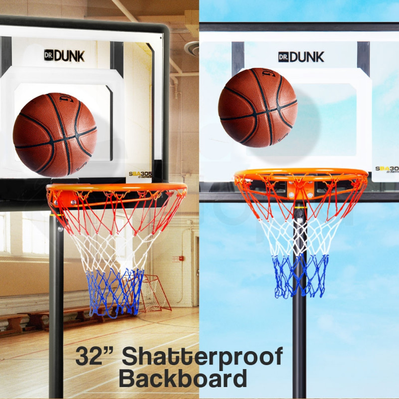 Dr.Dunk Adjustable Basketball Stand System Kids Hoop Portable Height Rim Ring by Dr. Dunk