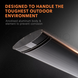 BIO 3200W Electric Outdoor Patio Heater- Spectra 32 by Bio-Design