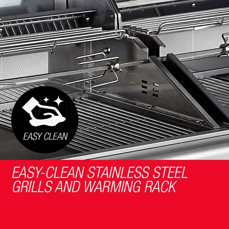 EuroGrille 9 Burner BBQ Grill Outdoor Barbeque Gas 100% Stainless Steel Kitchen by EuroGrille