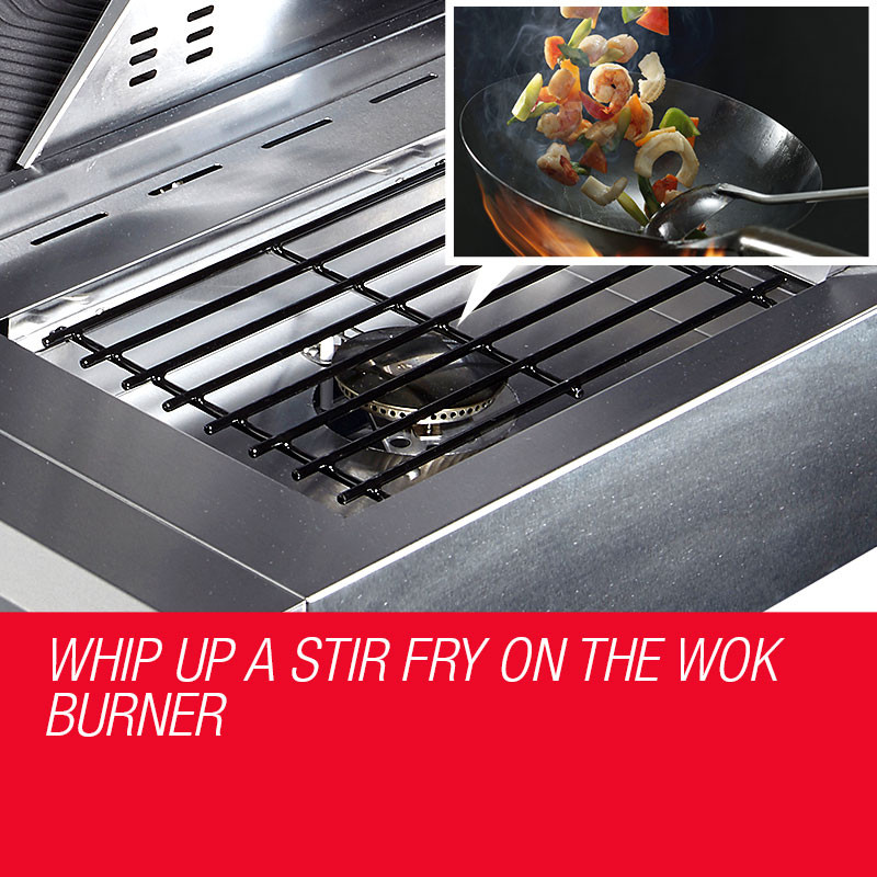 5 Burner Outdoor BBQ Grill | Shop Euro Grille Notebook Grills