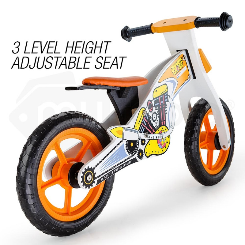 ROVO KIDS Wooden Kids Balance Bike Ride On Toy Push Bicycle Toddler Training by Rovo Kids