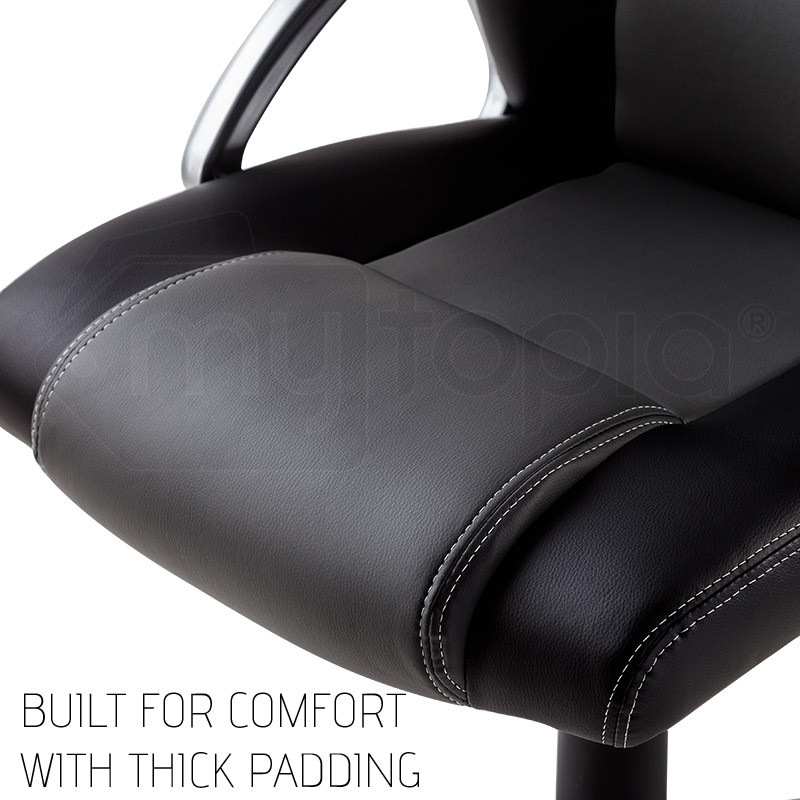 OVERDRIVE Racing Office Chair - PU Leather Seat Executive Computer Gaming Deluxe by Overdrive