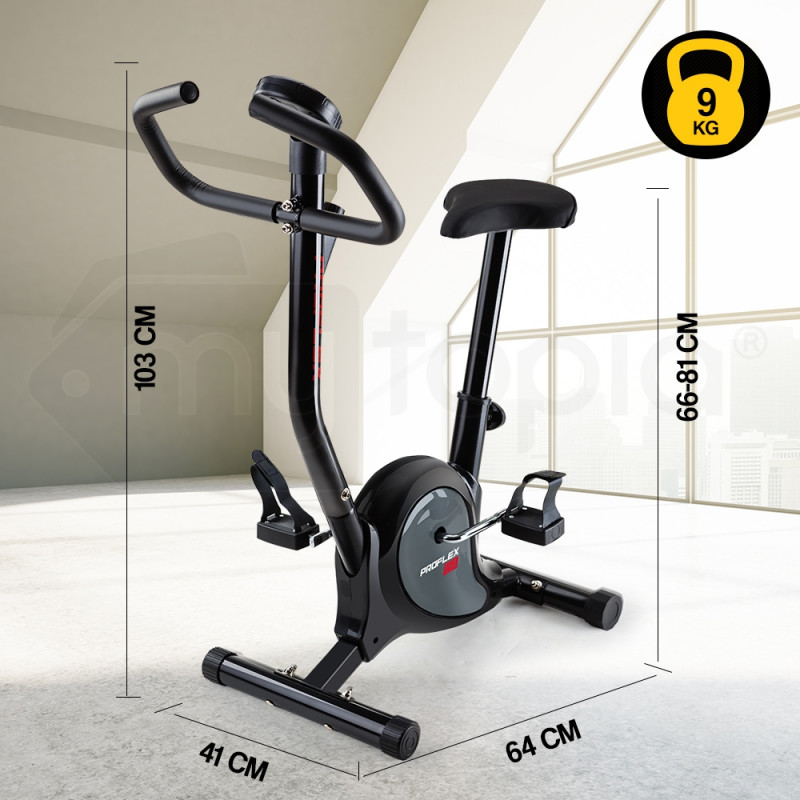 PROFLEX Exercise Bike -Home Gym Fitness Bicycle Trainer Spin Cycle Equipment by Proflex