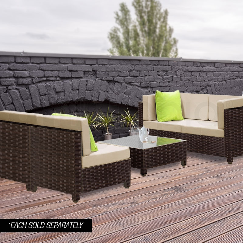 LONDON RATTAN 1pc Coffee Table Wicker Outdoor Sofa Furniture Garden Lounge by London Rattan