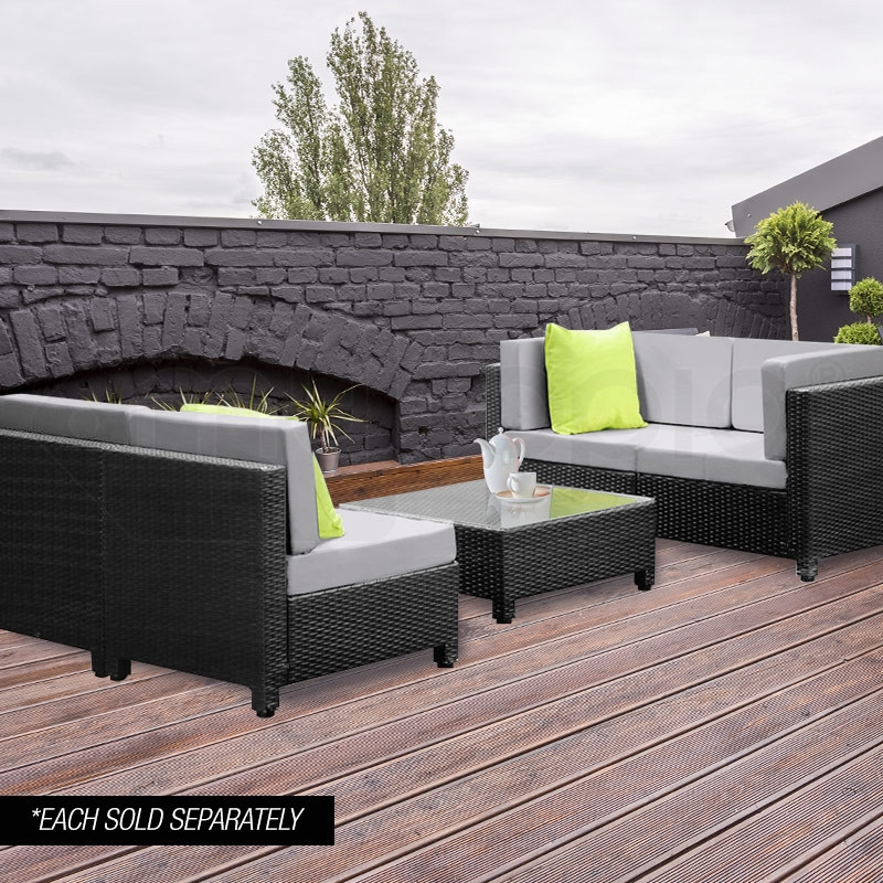 Black Outdoor Coffee Table by London Rattan