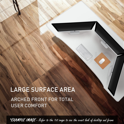 AVANTE Curve Sit/Stand Motorised Motorised Height Adjustable Desk 150cm White/Black by Avante