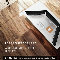 AVANTE Sit/Stand Motorised Height Adjustable Desk 160cm White/White Oak by Avante
