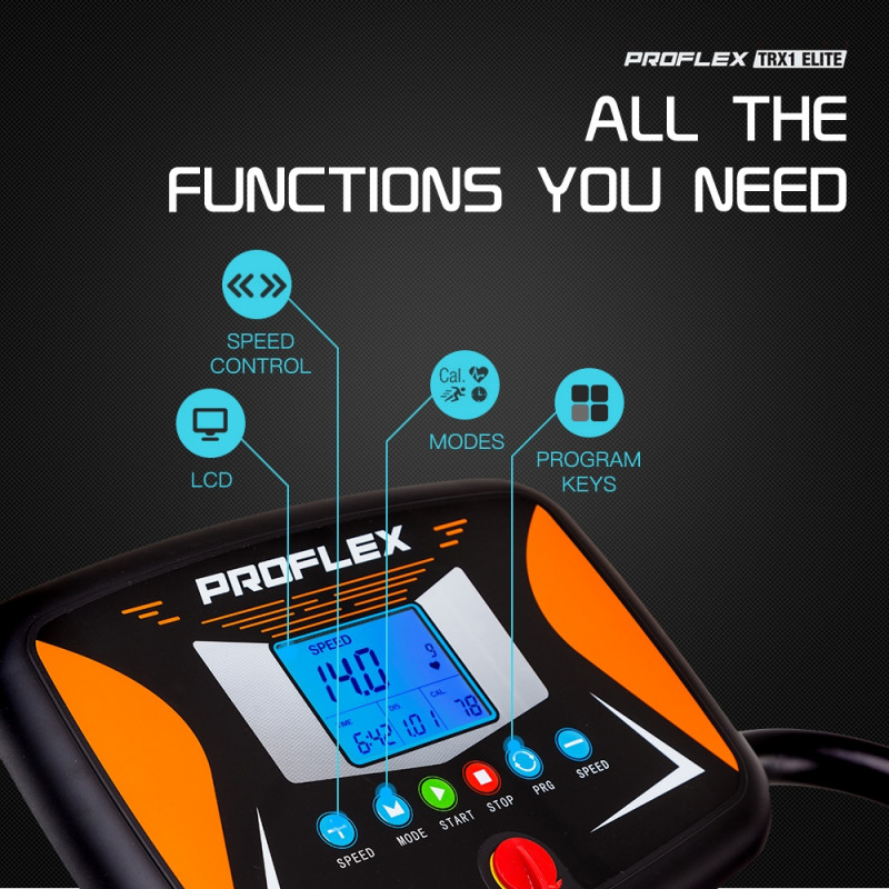 PROFLEX ElectricTreadmill Compact Exercise Machine Fitness Equipment - TRX1 by Proflex