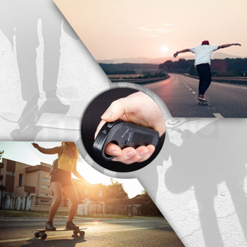 BULLET Electric Skateboard - Motorised Cruiser Board Remote Control Rechargeable by Bullet