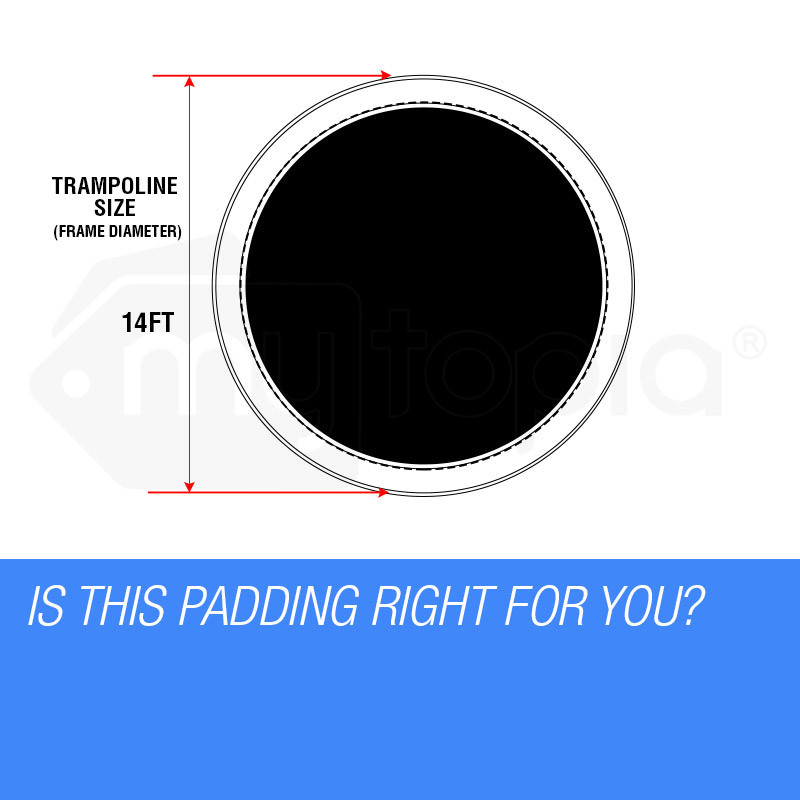 UP-SHOT 14ft Replacement Trampoline Pad Padding Springs Outdoor Safety Round by Up-Shot