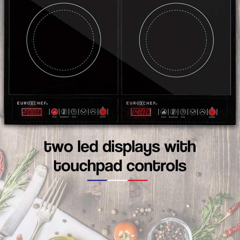 EuroChef Electric Induction Cooktop Portable Kitchen Ceramic Cooker Cooktop by EuroChef