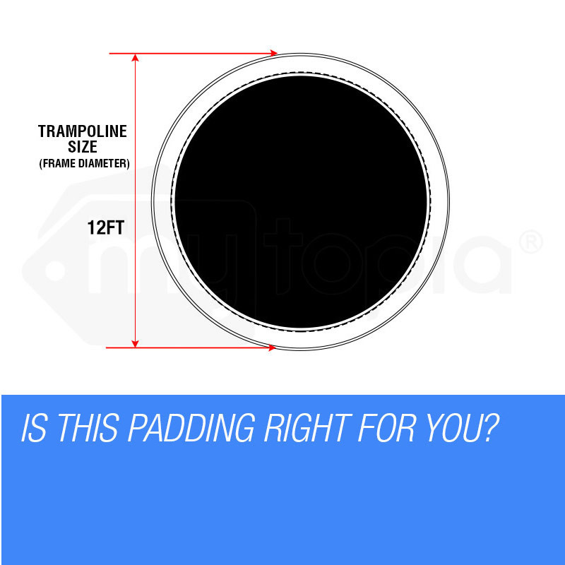 UP-SHOT 12ft Replacement Trampoline Padding - Pads Pad Outdoor Safety Round by Up-Shot