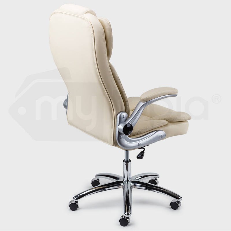 AVANTE Executive Premium Office Chair Faux Leather Cream Retractable Armrest by Avante