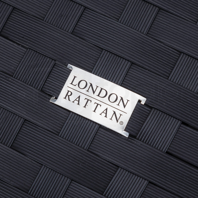 Black Outdoor Corner Sofa by London Rattan