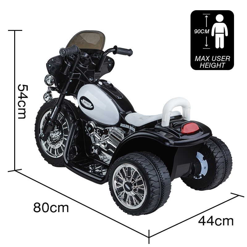 ROVO KIDS Electric Ride On Patrol Motorbike Police Motorcycle Toy Bike Battery by Rovo Kids
