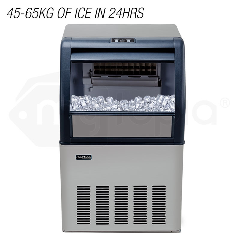 Commercial Ice Cube Maker Machine Fridge Home POLYCOOL Bar Freezer 45-65kg/Day by PolyCool