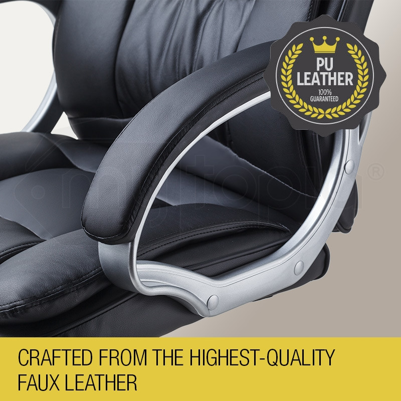 AVANTE Executive Premium PU Leather Office Computer Chair Padded Seat Black by Avante