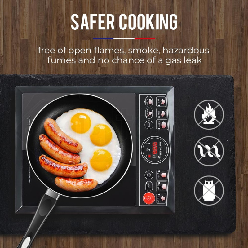 2000W Portable Induction Cooktop by Euro-Chef