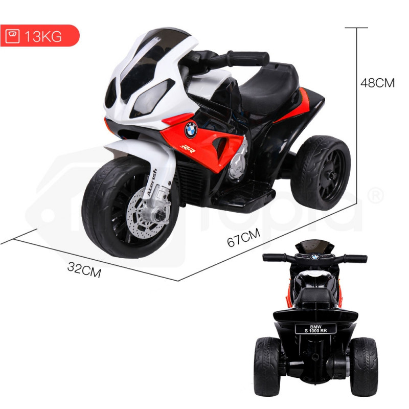 Red Licensed BMW Electric Kids Ride On Motorbike- S1000RR by Rovo Kids