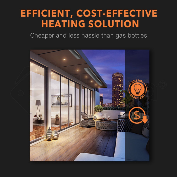2400W Electric Outdoor Strip Heater - E4000 by Bio-Design