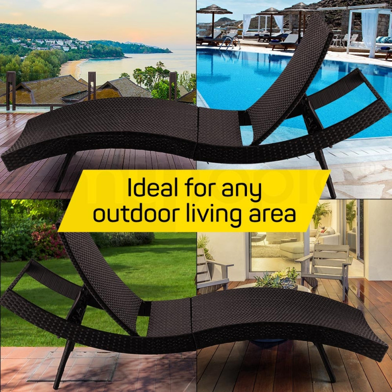 Brown Outdoor Sun Lounge by London Rattan