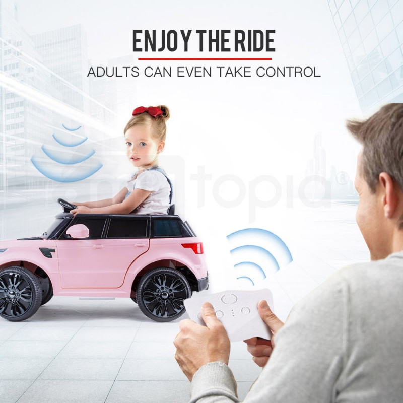 ROVO KIDS Ride-On Car Electric Battery Childrens Toy Powered w/ Remote 12V Pink by Rovo Kids