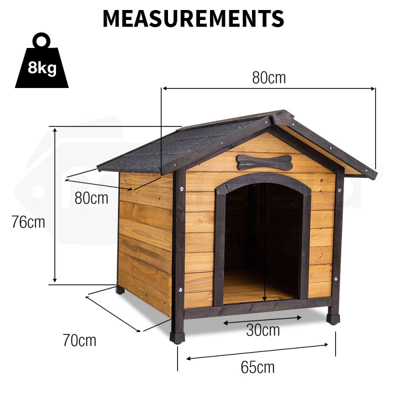 NEATAPET Dog House Kennel Pet Timber Wooden Log Cabin Storage Box Elevated Home by NeataPet