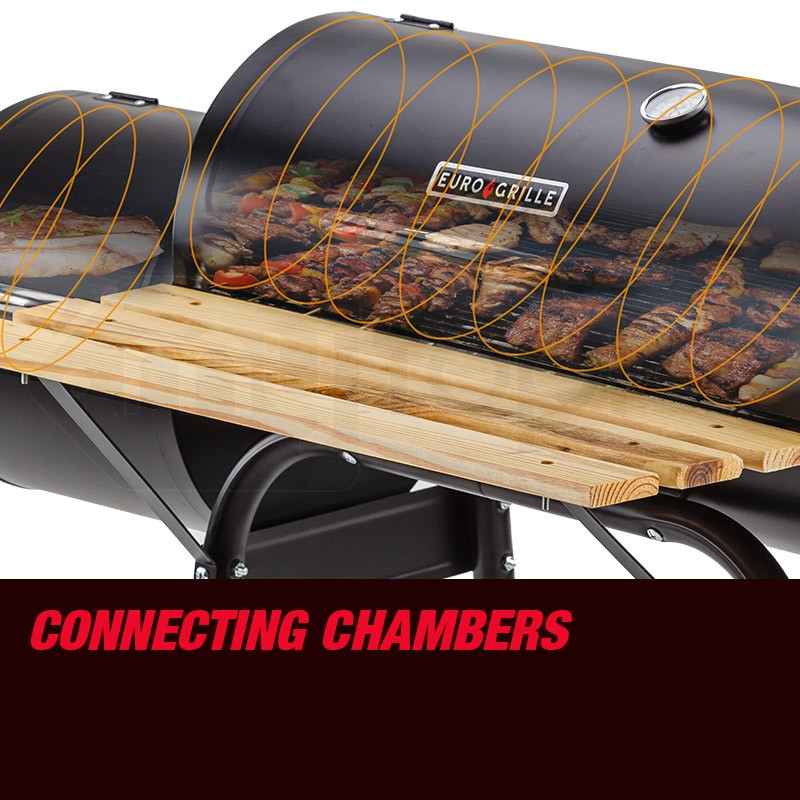 2in1 Portable Roaster BBQ Grill by Euro-Grille