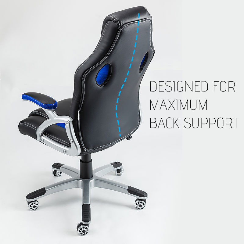 OVERDRIVE Racing Office Chair - Seat Executive Computer Deluxe Gaming PU Leather by Overdrive