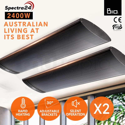 BIO 2400W Electric Outdoor Patio Heater- Spectra 32 by Bio-Design
