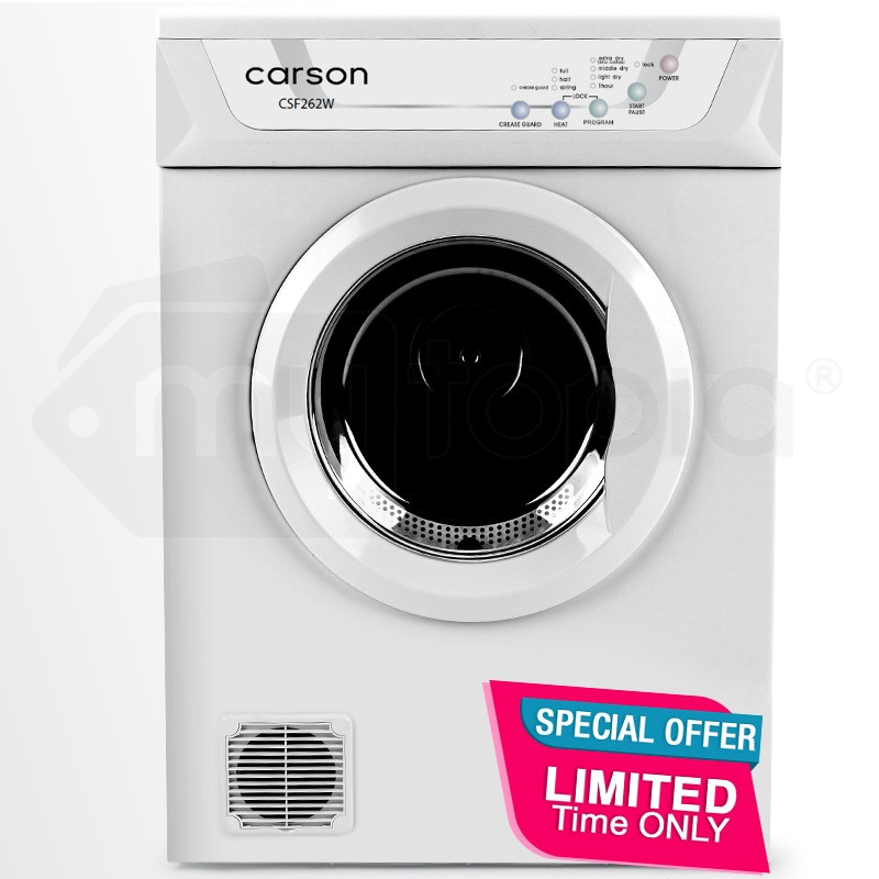 CARSON 6kg Clothes Dryer - Air-Vented Front Load Wall Mount Home Appliance by Carson