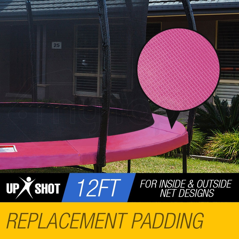 UP-SHOT 12ft Pink Replacement Trampoline Pad-Spring Reinforced Round Outdoor by Up-Shot