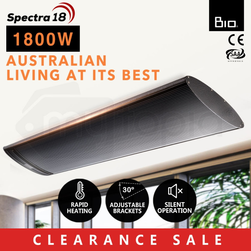 1800W Infrared Outdoor Electric Heater - Spectra 18 by Bio-Design