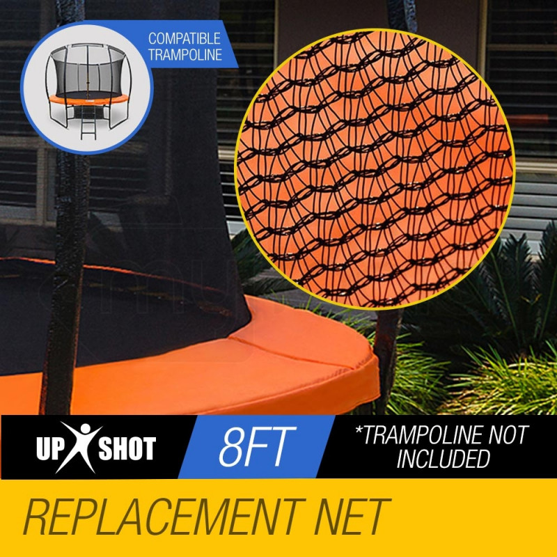 UP-SHOT 8ft Replacement Trampoline Inside Safety Net Spare Part Enclosure 6 Pole by Up-Shot