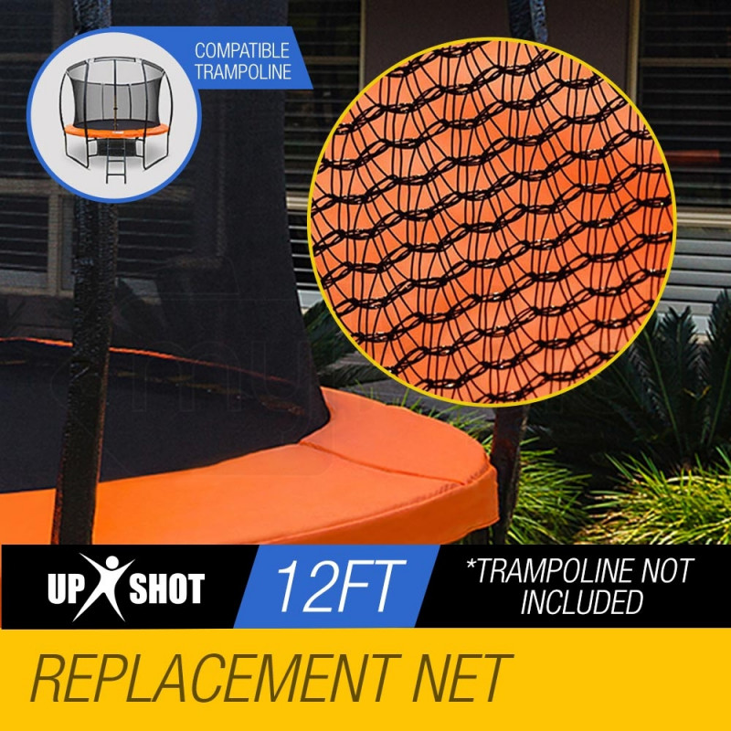 UP-SHOT 12ft Replacement Trampoline Inside Safety Net Spare Enclosure 8 Pole by Up-Shot