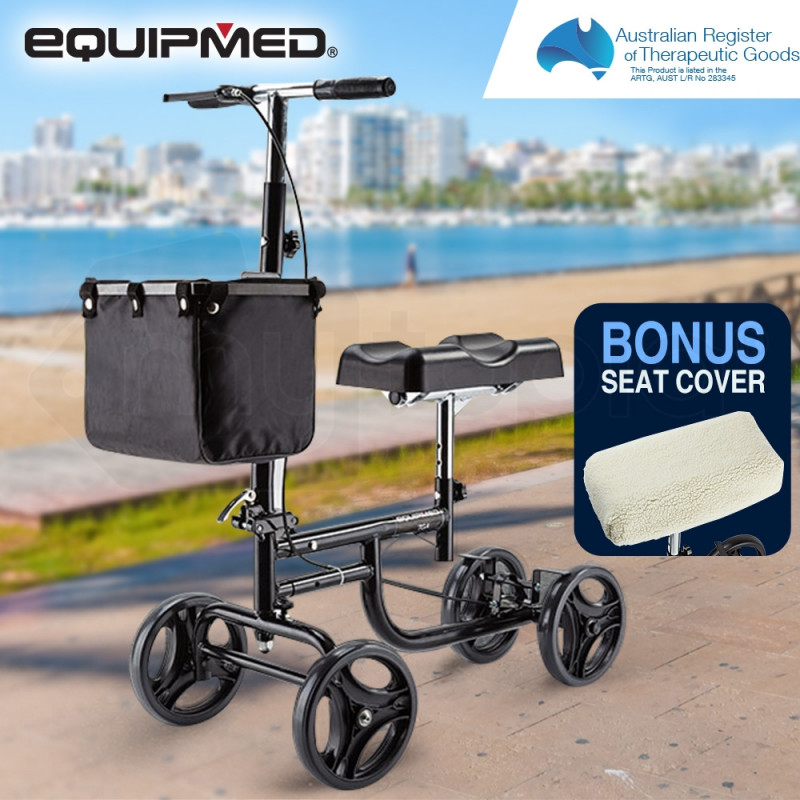 EQUIPMED Knee Walker Scooter Mobility Alternative Crutches Wheelchair by Equipmed