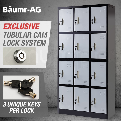 Black Grey 12 Door Gym Locker Shop Baumr Ag Gym Lockers