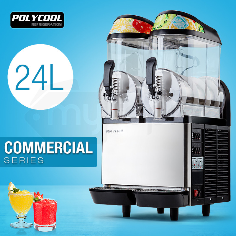 POLYCOOL 24L COMMERCIAL Slushie Machine Granita Slush Maker Slurpee Slushy Juice by PolyCool