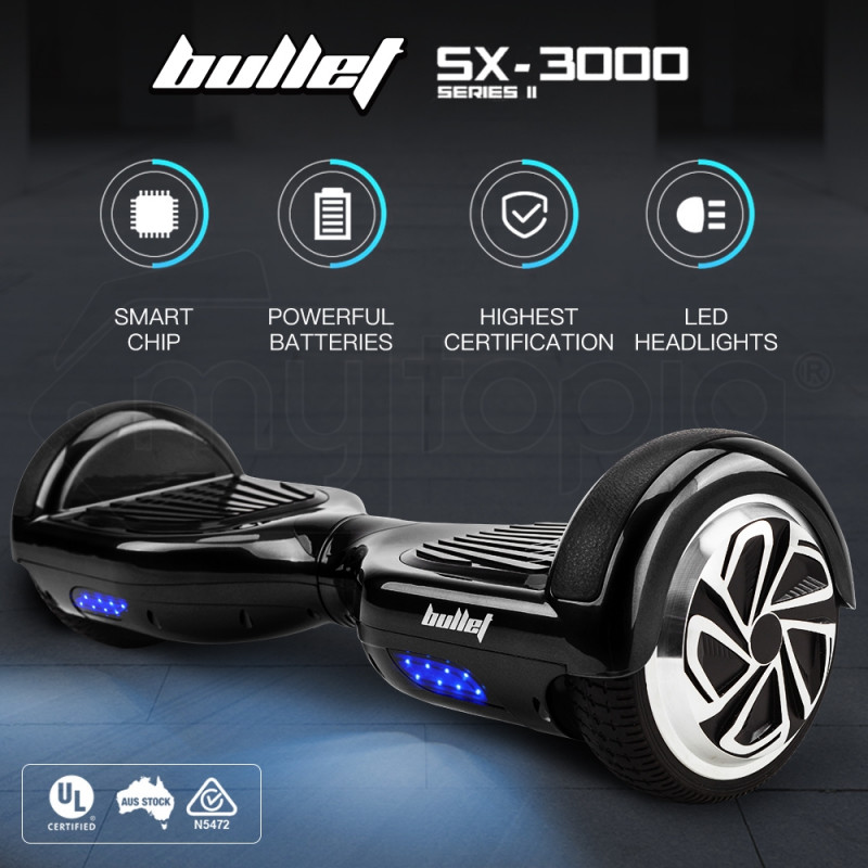 BULLET Hoverboard Scooter Self-Balancing Electric Hover Board Black Skateboard by Bullet