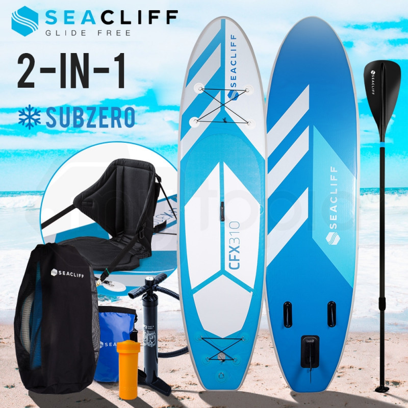 SEACLIFF Stand Up Paddle Board Inflatable SUP Paddleboard Kayak Board Blow Blue by Seacliff