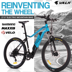 "Blue 27.5"" 36V Lithium Battery Electric Bike by Valk"