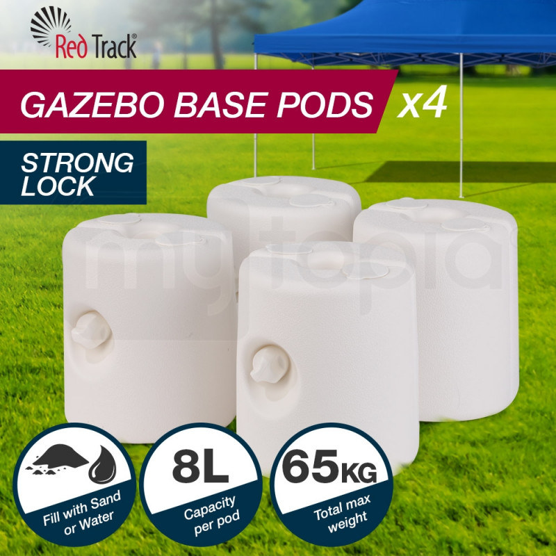 Red Track Gazebo Base Pod Kit Marquee Set Leg Fillable Water Sand Weight Pods by Red Track