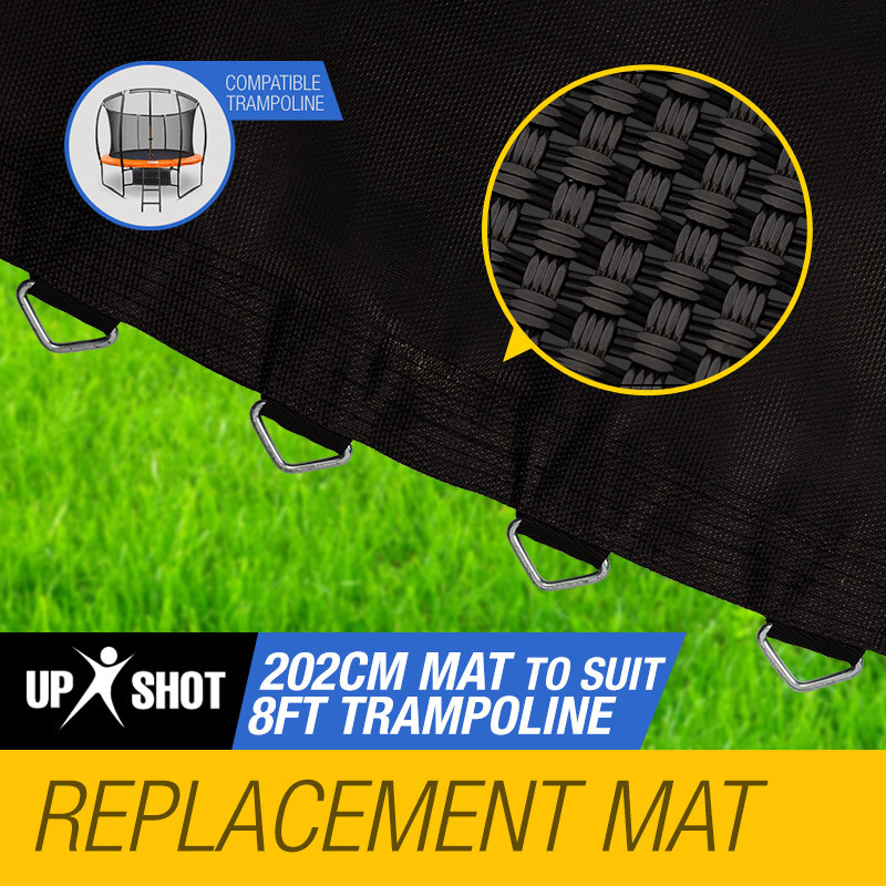UP-SHOT 8ft Replacement Trampoline Mat - 48 Spring Round Spare Foot Parts by Up-Shot