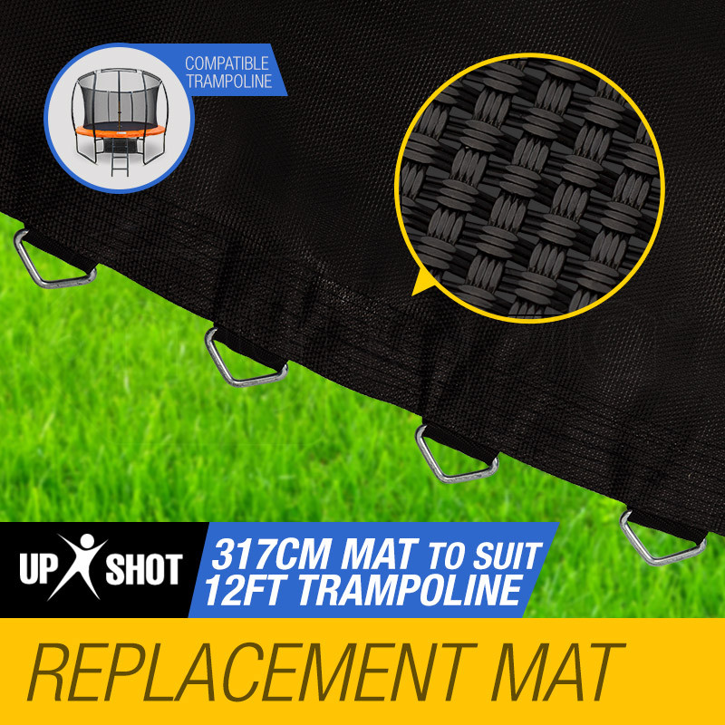 UP-SHOT 12ft Replacement Trampoline Mat - 72 Spring Round Spare Foot Parts by Up-Shot
