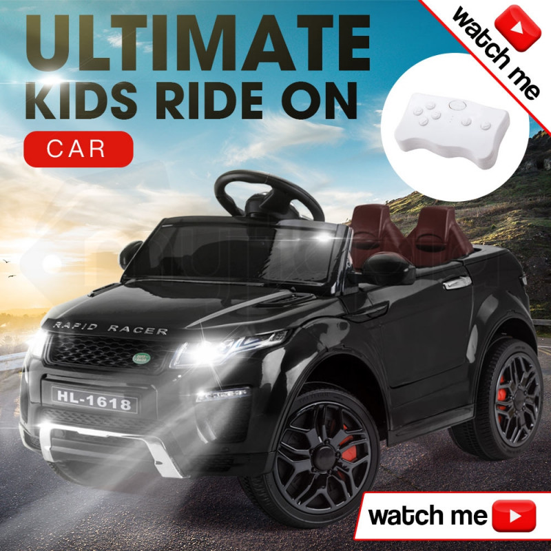 Rovo Kids Black Rapid Racer 12v Remote Control Electric Cars For Kids