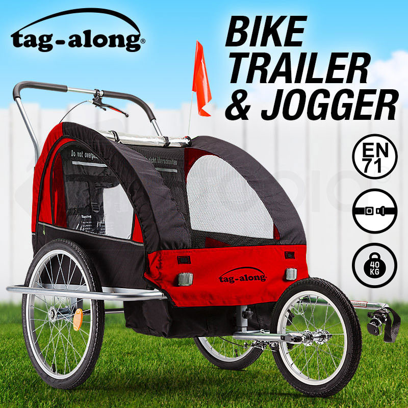 Red Kids Bike Trailer & Jogger