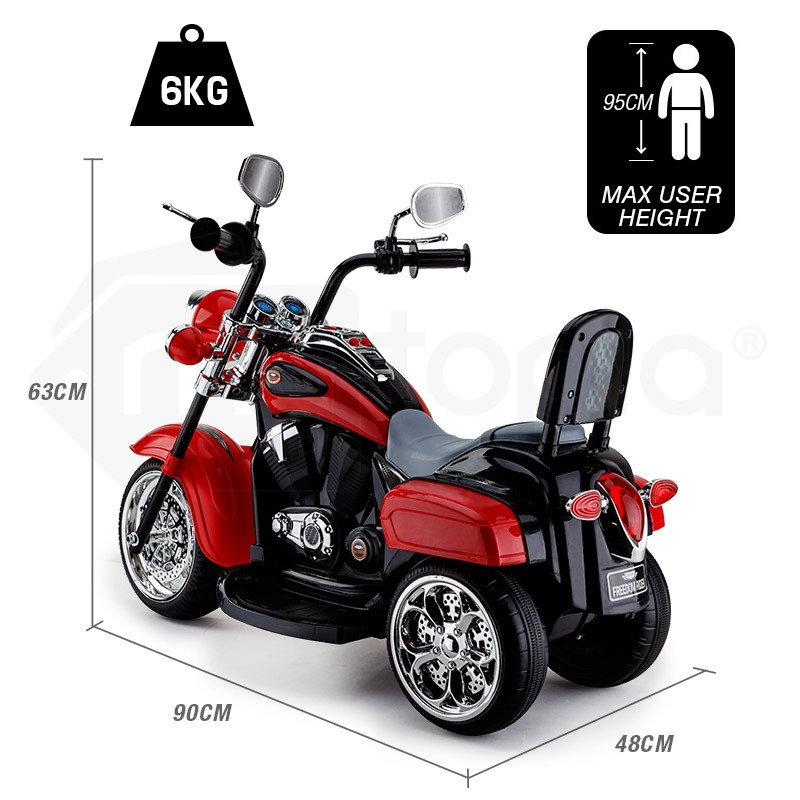 Harley Davidson Style Cruiser Red Kids Ride-On Motorcycle - Freedom Rider  by Rovo Kids
