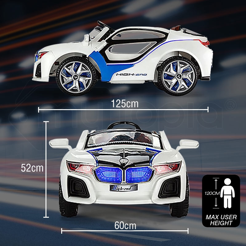 ROVO KIDS Ride On Car BMW i8 Inspired Electric Battery Toy Motorised 2 Speed by Rovo Kids