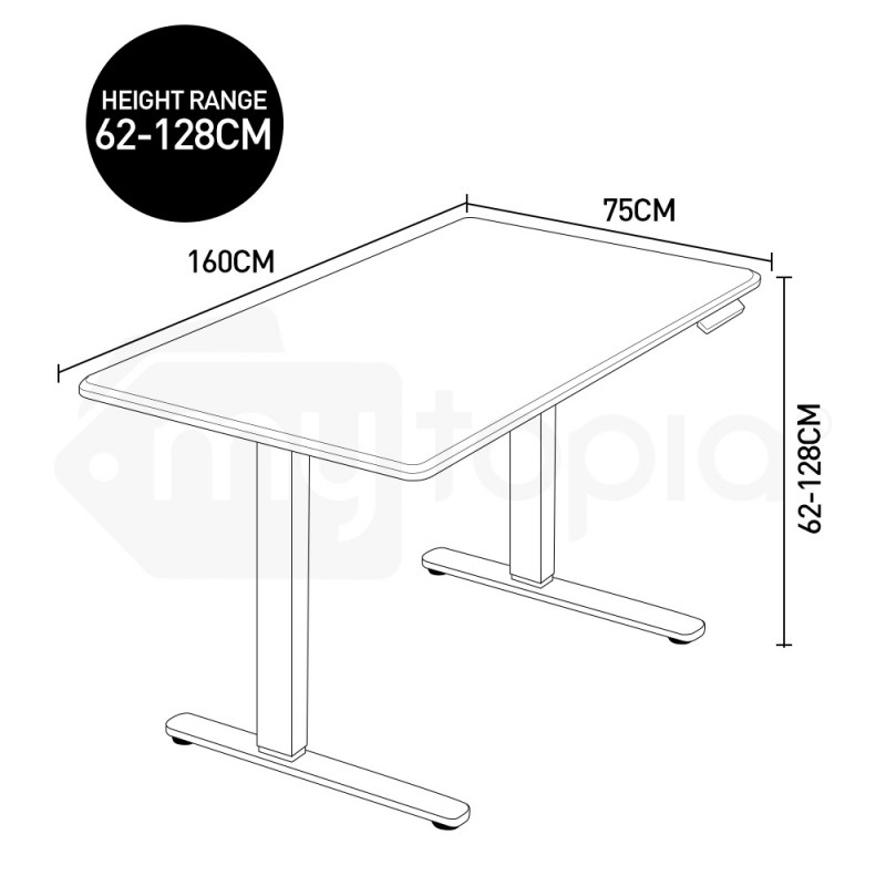 AVANTE Sit/Stand Motorised Height Adjustable Desk 160cm Matte White/Silver by Avante
