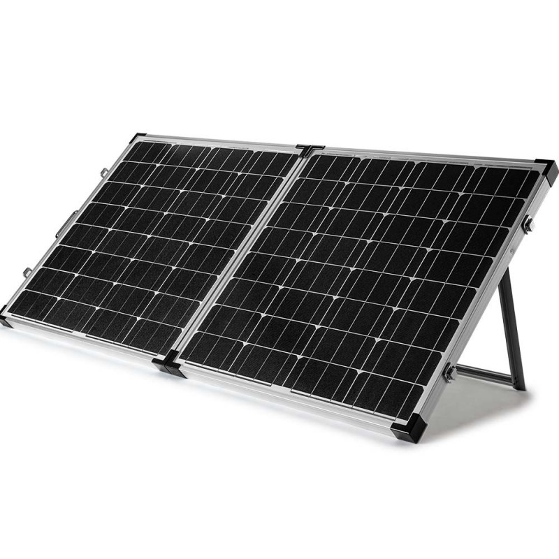 G&P 12V 160W Folding Portable Mono Solar Panel Kit Caravan Camping Power USB by G&P